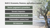 BLOC 2: Economia, finances, agricultura i comerç.