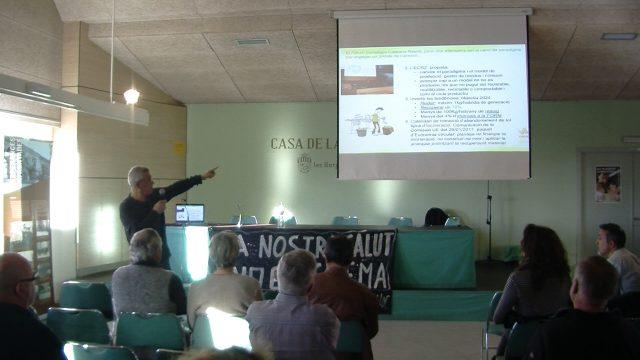 Protesta contra la incineradora de Juneda a Les Borges
