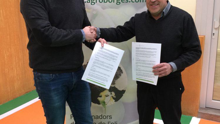 La 55a Fira de l'Oli Qualitat Verge Extra i les Garrigues renova l'acord de patrocini amb AgroBorges