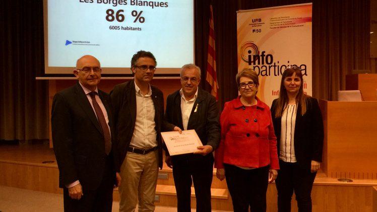 La UAB renova el segell de transparència Infoparticipa 2017 a l'Ajuntament de les Borges Blanques