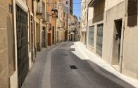 El carrer Concepció Soler de les Borges amb els treballs d'arranjament finalitzats