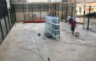 Finalitzada la instal·lació de la pista de pàdel a Castelldans