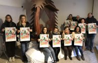 El regidor de Promoció Econòmica i les representants de l'Agrupació de Comerciants de les Borges presentant la campanya de Nadal 2018