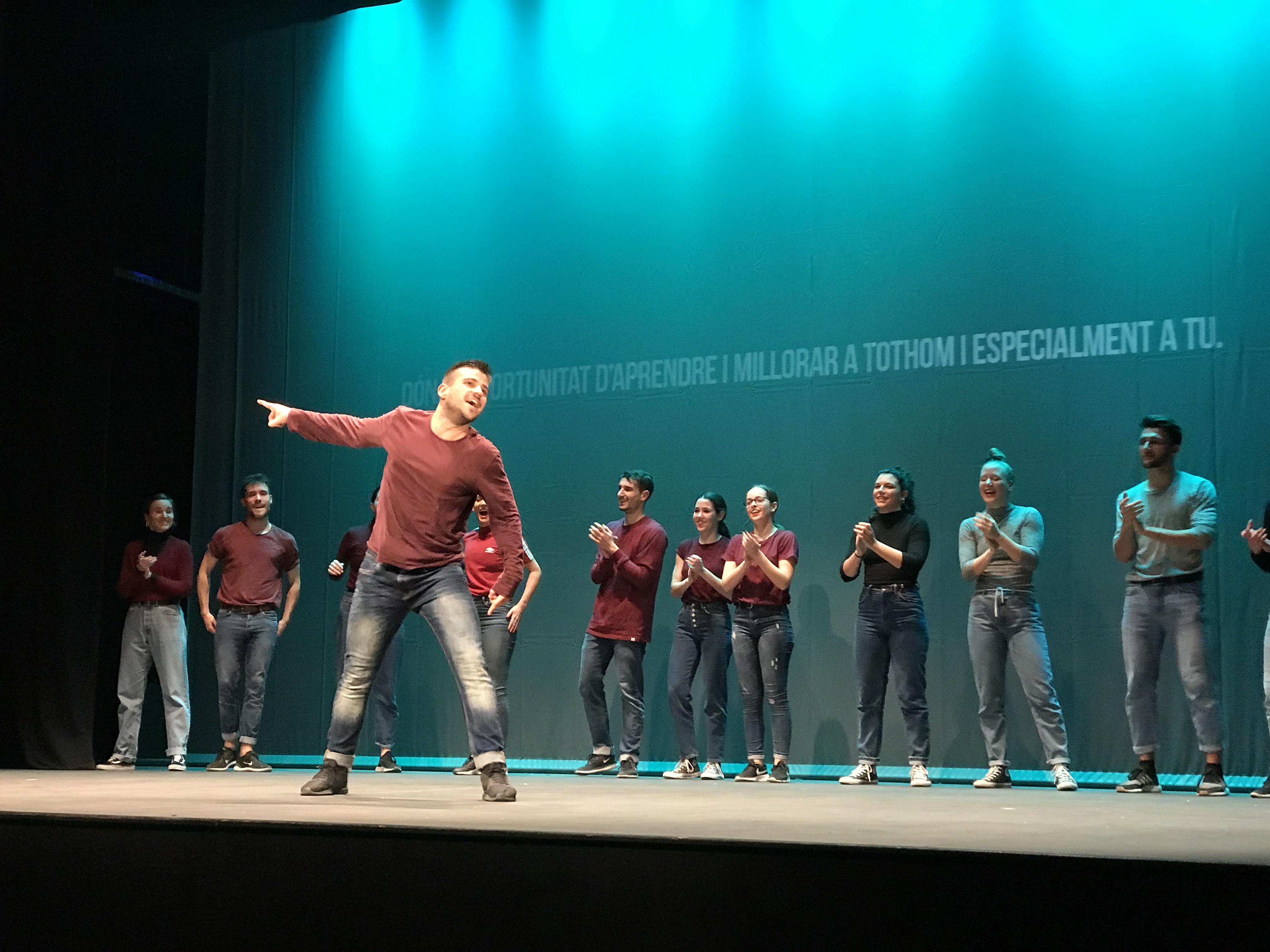 Espectacle del Dancescape a Juneda