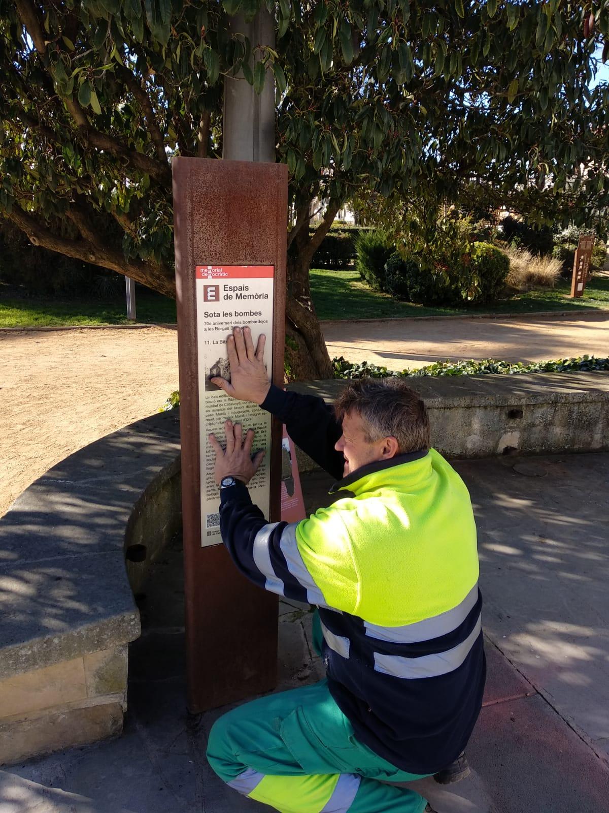 L'Ajuntament de les Borges renova els indicadors del Memorial Democràtic