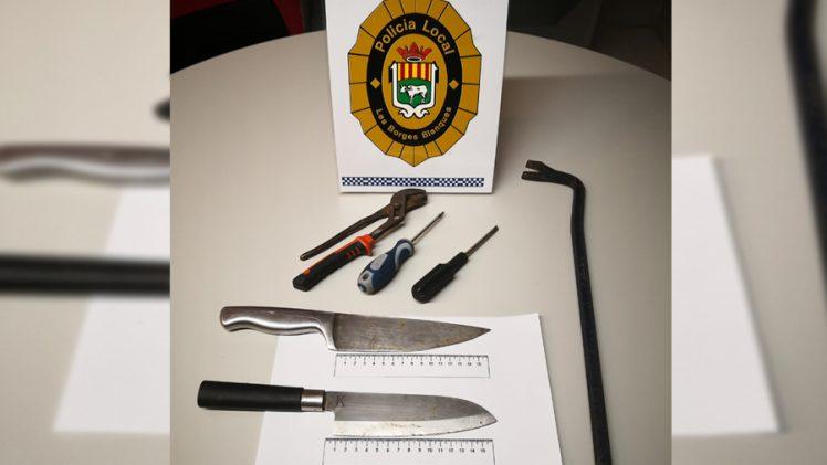 La Policia Local de Les Borges imputa un conductor per circular sense carnet, assegurança ni ITV