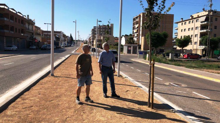 Les Borges última els darrers treballs de la 1a fase de la reforma de l'Avinguda Francesc Macià