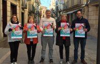 Els representants de l'Agrupació de Comerciants de les Borges i el regidor de Promoció Econòmica presentant la campanya de Nadal 2017