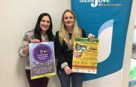 Ïngrid Florejachs i Ariadna Salla presentant la campanya borgenca contra les agressions sexistes del Carnestoltes 2018