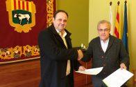 La signatura del conveni 2017 de col·laboració entre l'Ajuntament de les Borges Blanques i el Consell Comarcal de les Garrigues, per a la gestió de l'Oficina Jove