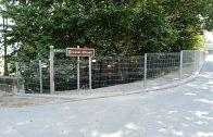 La nova tanca de seguretat del Canal d'Ugell al carrer Ramon Cornudella de les Borges