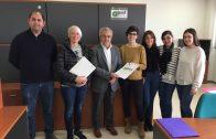 L'alcalde i el regidor de Promoció Econòmica donen la benvinguda a l'Associació Talma al CEI de les Borges