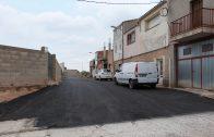 Imatge del carrer Castell Alt recent pavimentat.