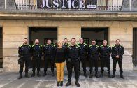Els agents de la Policia Local de les Borges amb el nou uniforme.