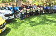Alguns dels expositors locals i les autoritats al Terrall preparant la 2a Fira Borges Motor