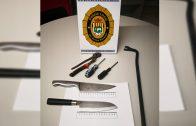 Fotografia del material intervingut per la Policia Local de les Borges.