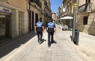 La Policia Local de les Borges patrullant per la ciutat