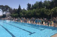 Les piscines municipals de les Borges durant l'estiu del 2018.