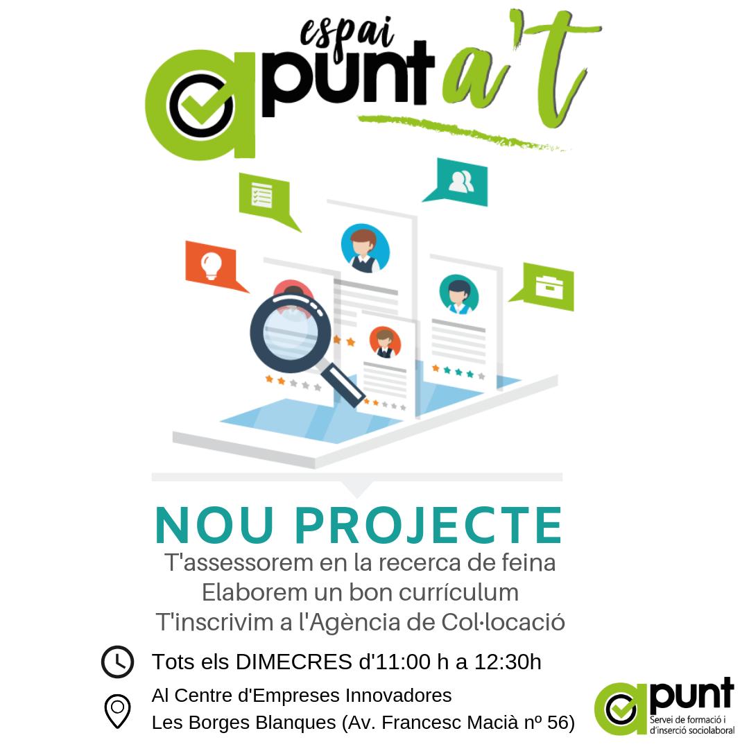 Es posa en marxa el servei Apunta't: un punt d'informació i assessorament laboral obert a la comunitat