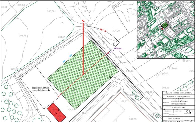 L'Ajuntament de les Borges licita les obres de construcció d'un camp de futbol 7