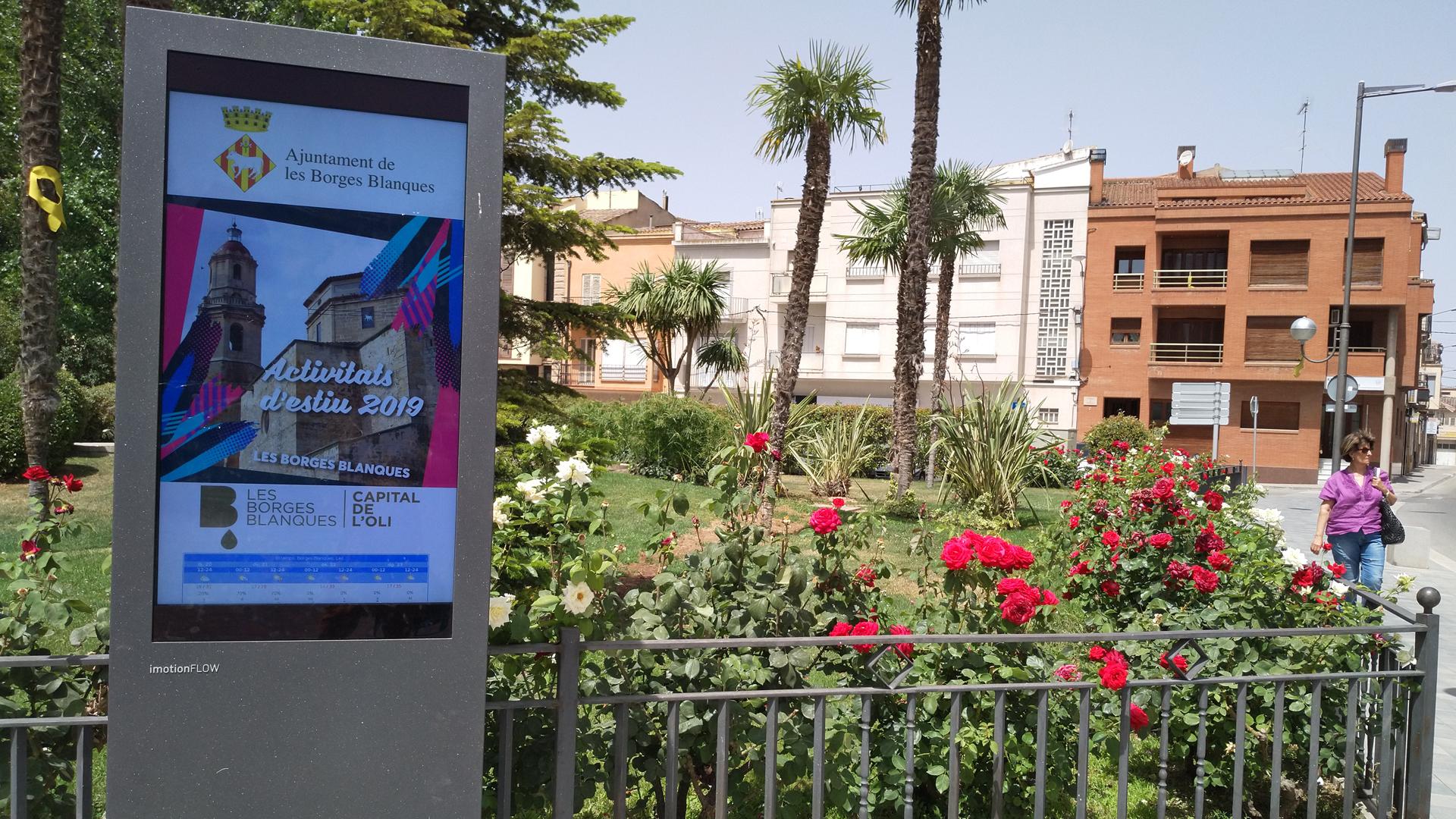 L'Ajuntament de les Borges instal·la un tòtem informatiu al Terrall