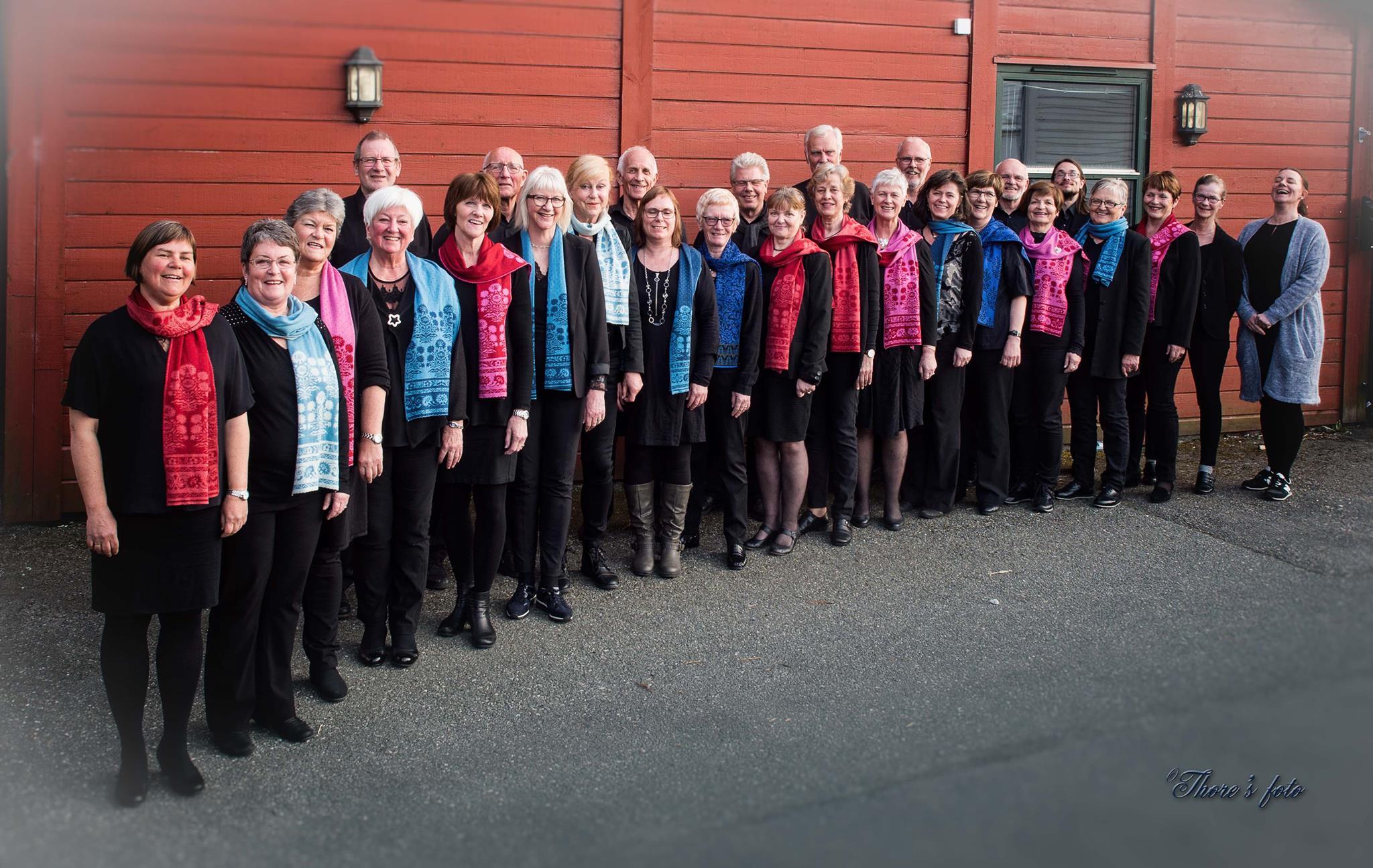 Concert del cor noruec Os Kammerkor a la sala de bótes del celler Mas Blanch i Jové