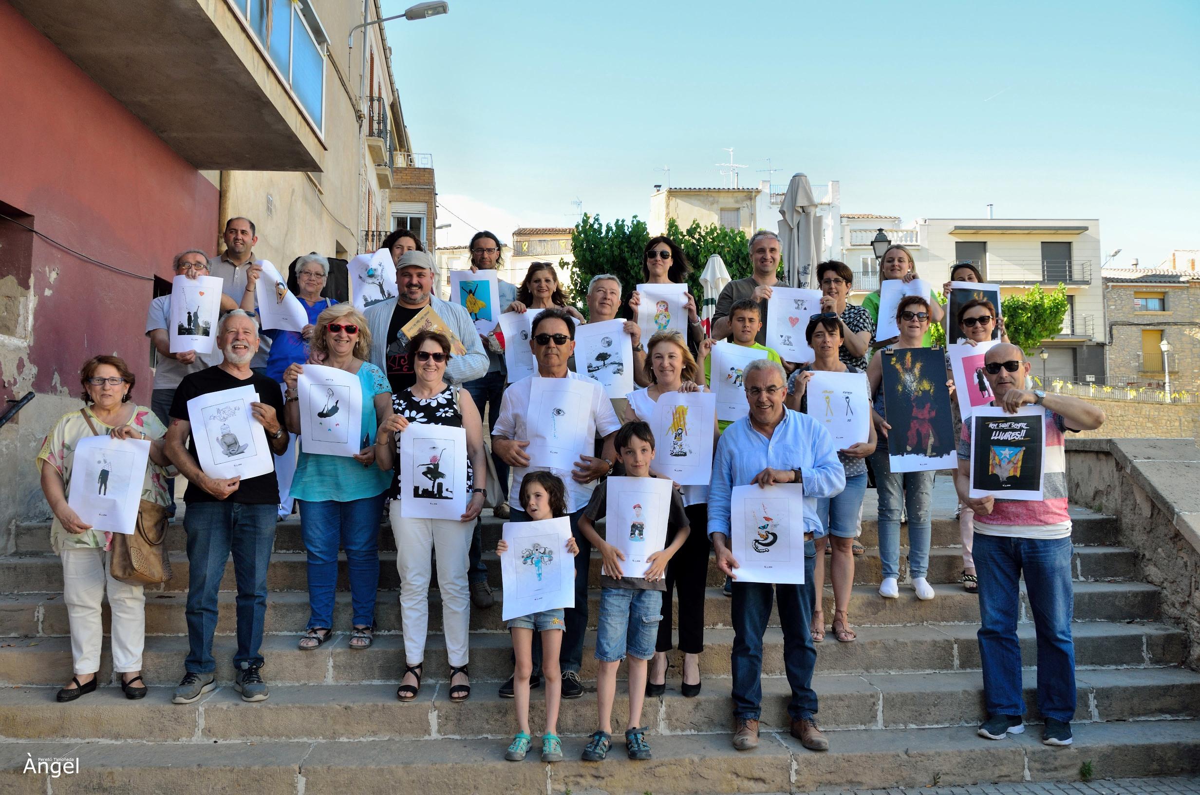 Donació d'una col·lecció de làmines i poesies, úniques i inèdites, a l'Ajuntament de les Borges