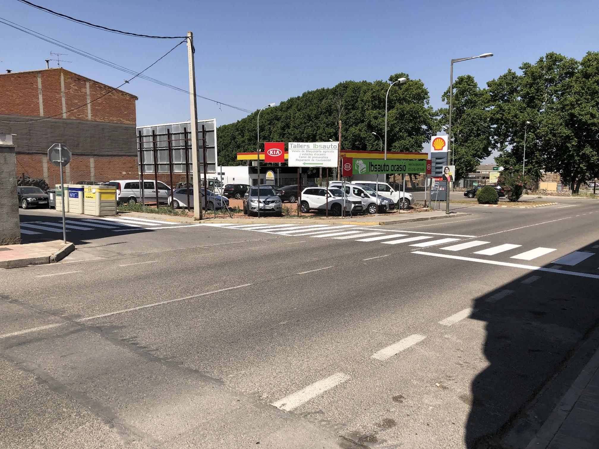 Millores en la seguretat dels vianants de l'entorn de la benzinera de les Borges