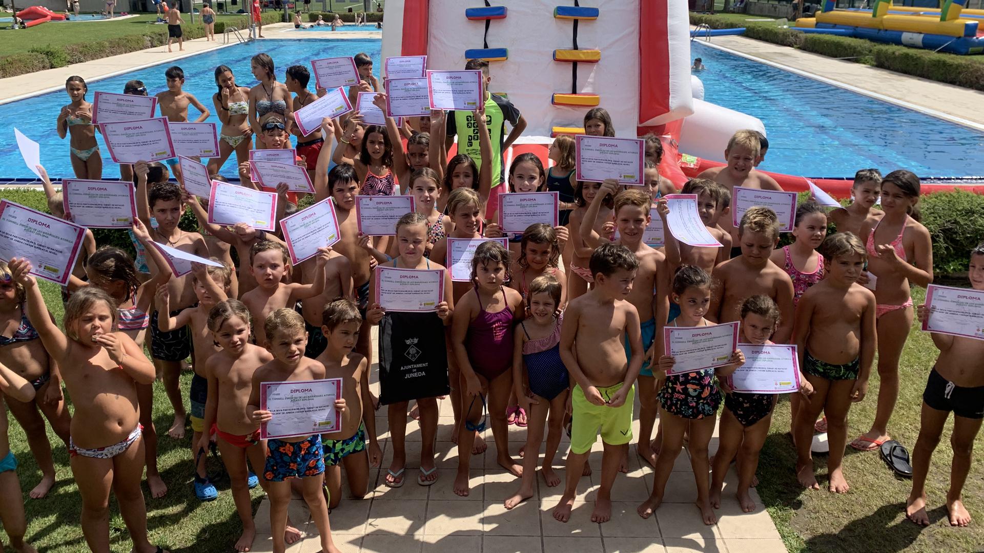 Cloenda dels cursets de natació a Juneda i altres activitat dins dels preludis de la Festa Major