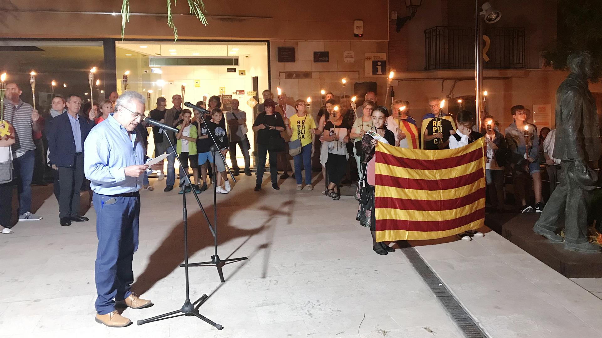 Les Borges Blanques celebrarà aquest dimarts la Marxa de Torxes per la Independència
