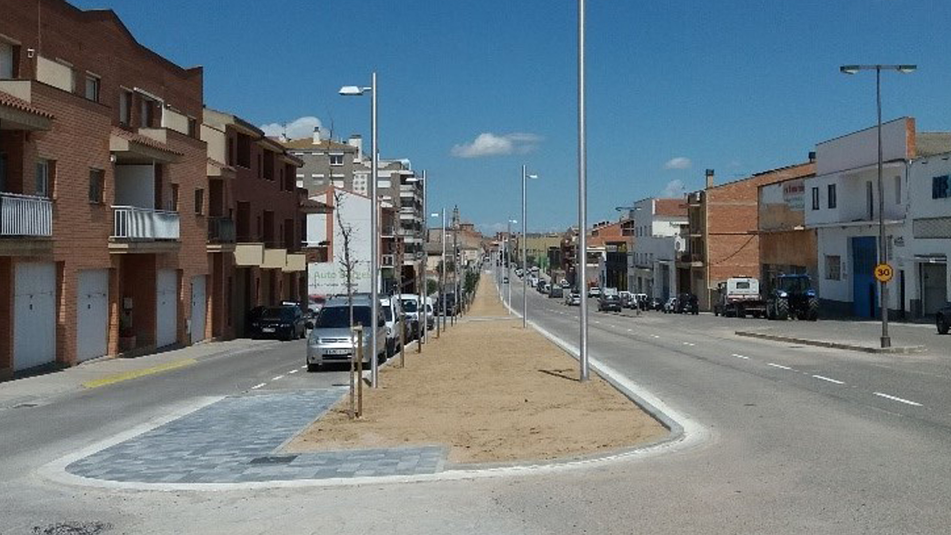 Les Borges renova l'enllumenat de l'Avinguda Francesc Macià