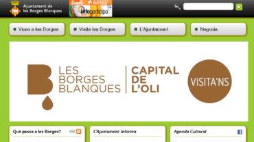 La web actual de l'Ajuntament de les Borges Blanques