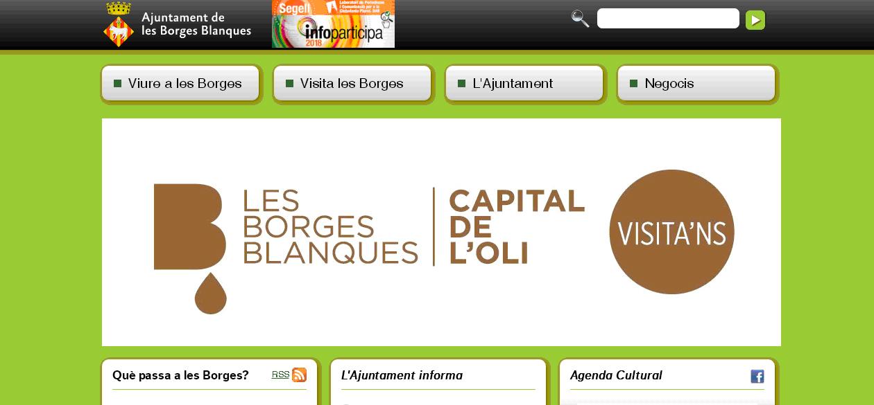 L'Ajuntament de les Borges adjudica la creació d'una nova web