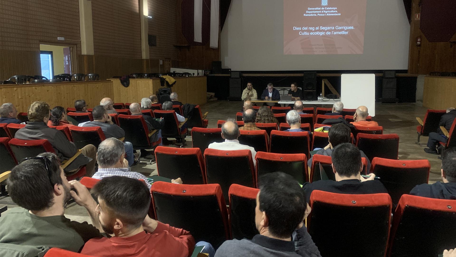 Jornada Tècnica a Castelldans sobre el cultiu ecològic de l'ametller
