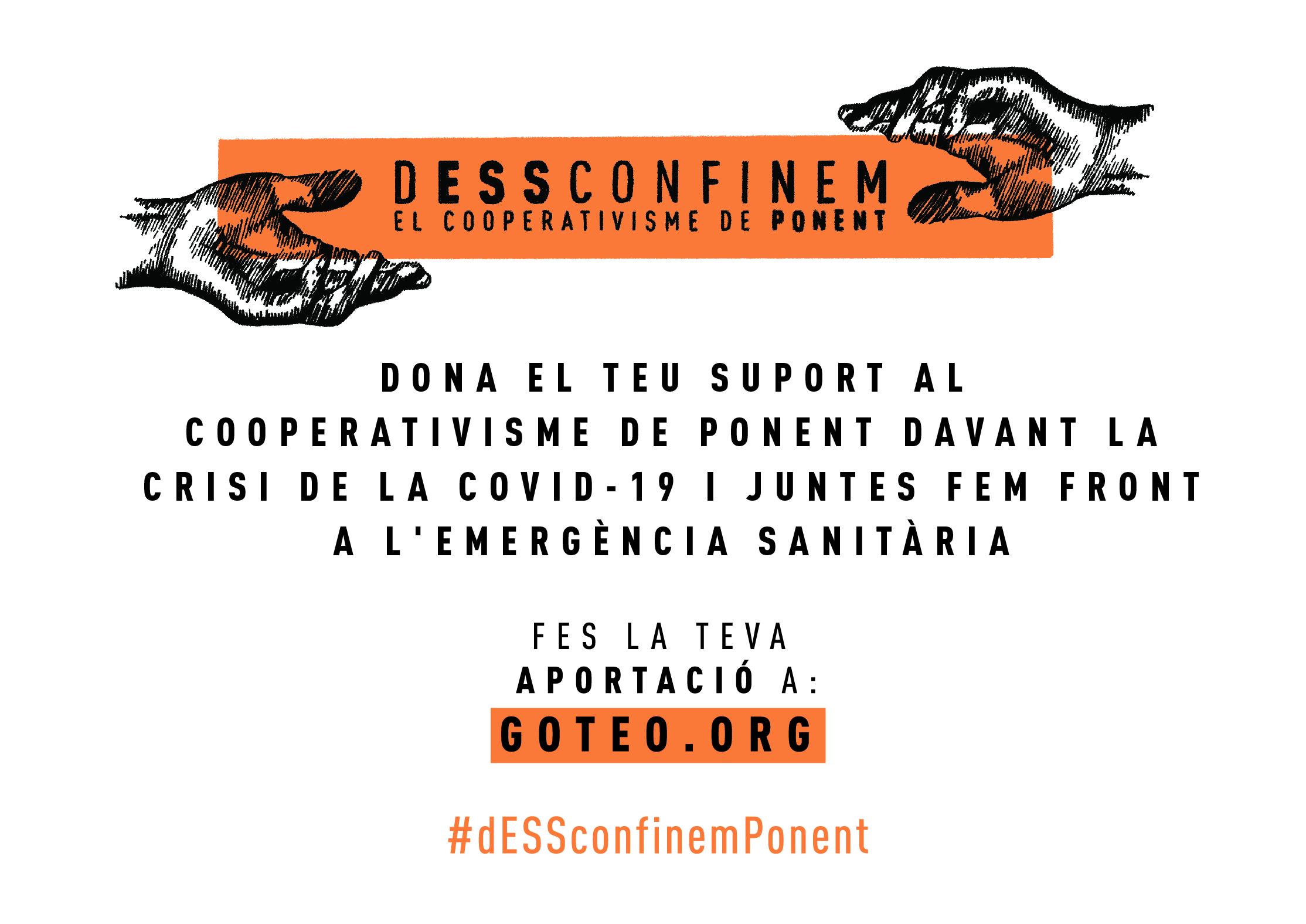 En només sis dies la campanya #dESSconfinemPonent aconsegueix el primer repte econòmic