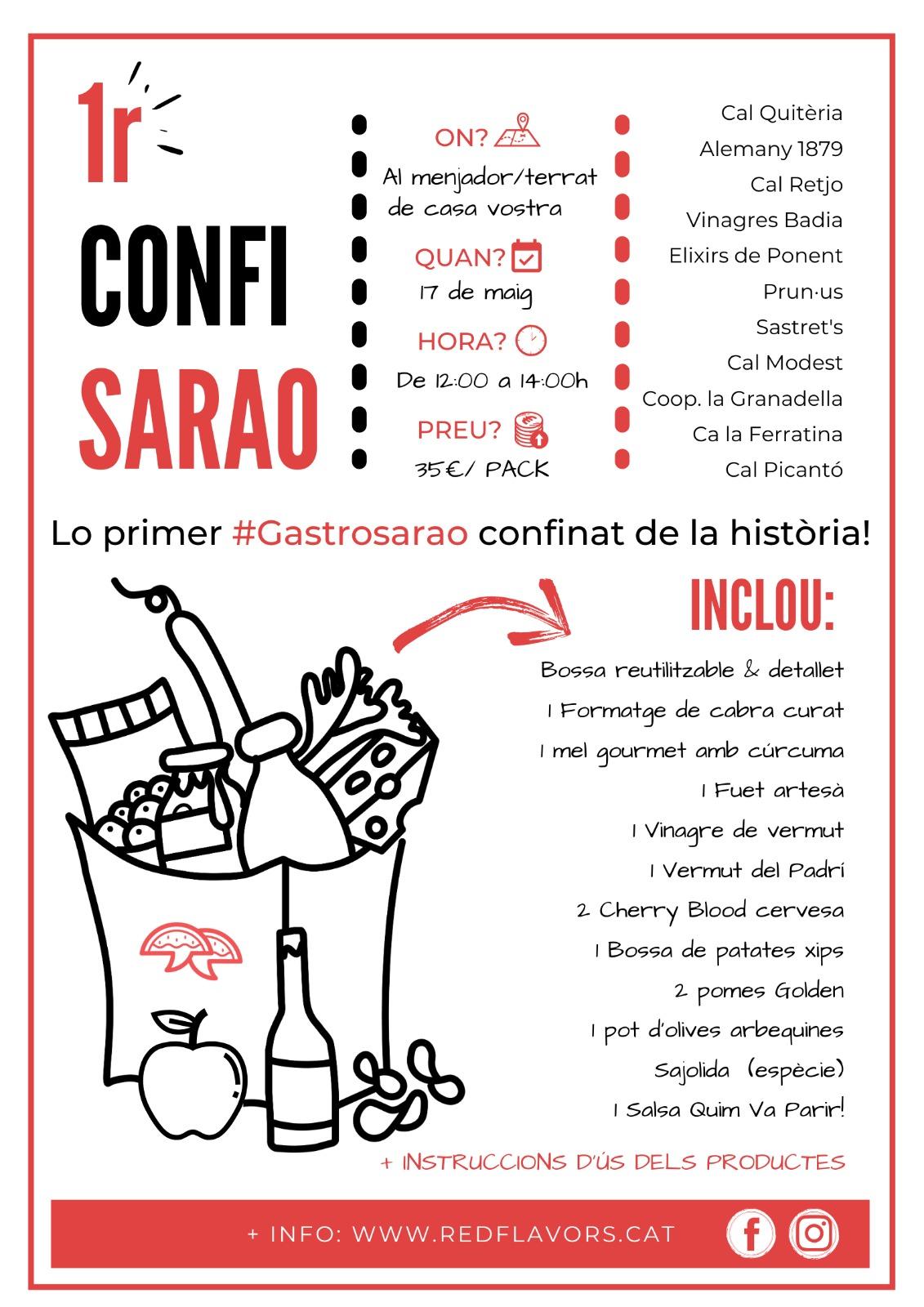 'Gastrosarao' confinat virtual de Red Flavors i 11 productors lleidatans