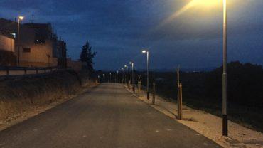 Nova il·luminació Camí del Cementiri Vell de les Borges.