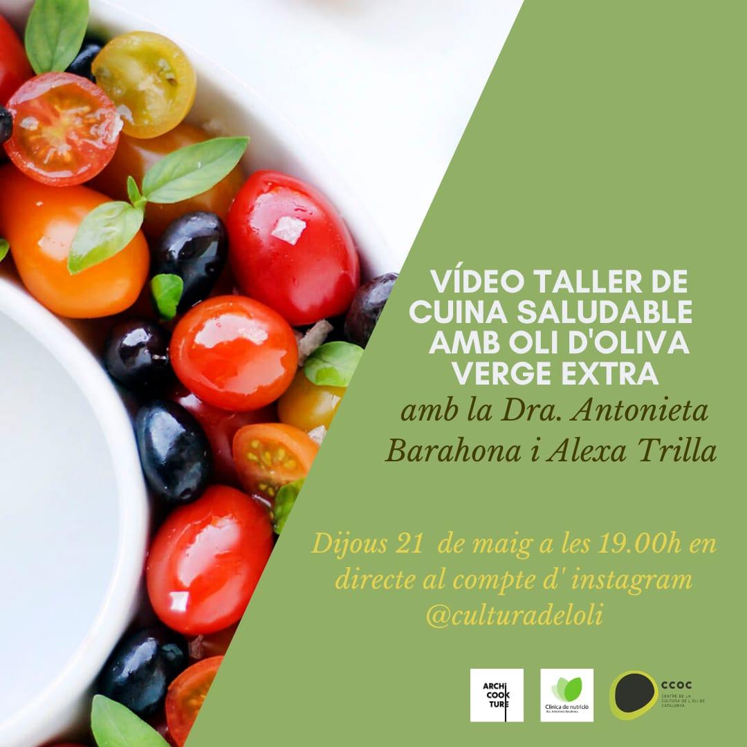 El Centre de l'oli de la Granadella organitza un taller virtual de cuina saludable amb oli verge extra