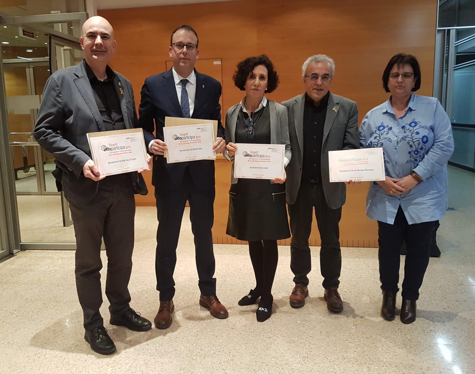 L'Ajuntament de les Borges renova el segell de transparència Infoparticipa 2019 que atorga cada any l'UAB
