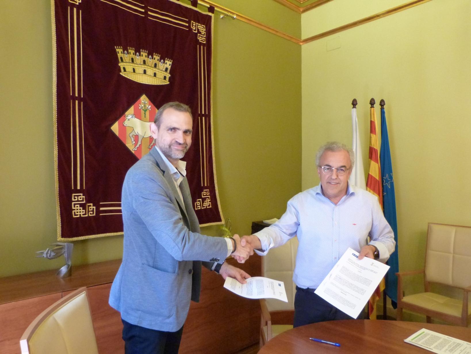 Les Borges renova els convenis amb SOREA i amb Interior