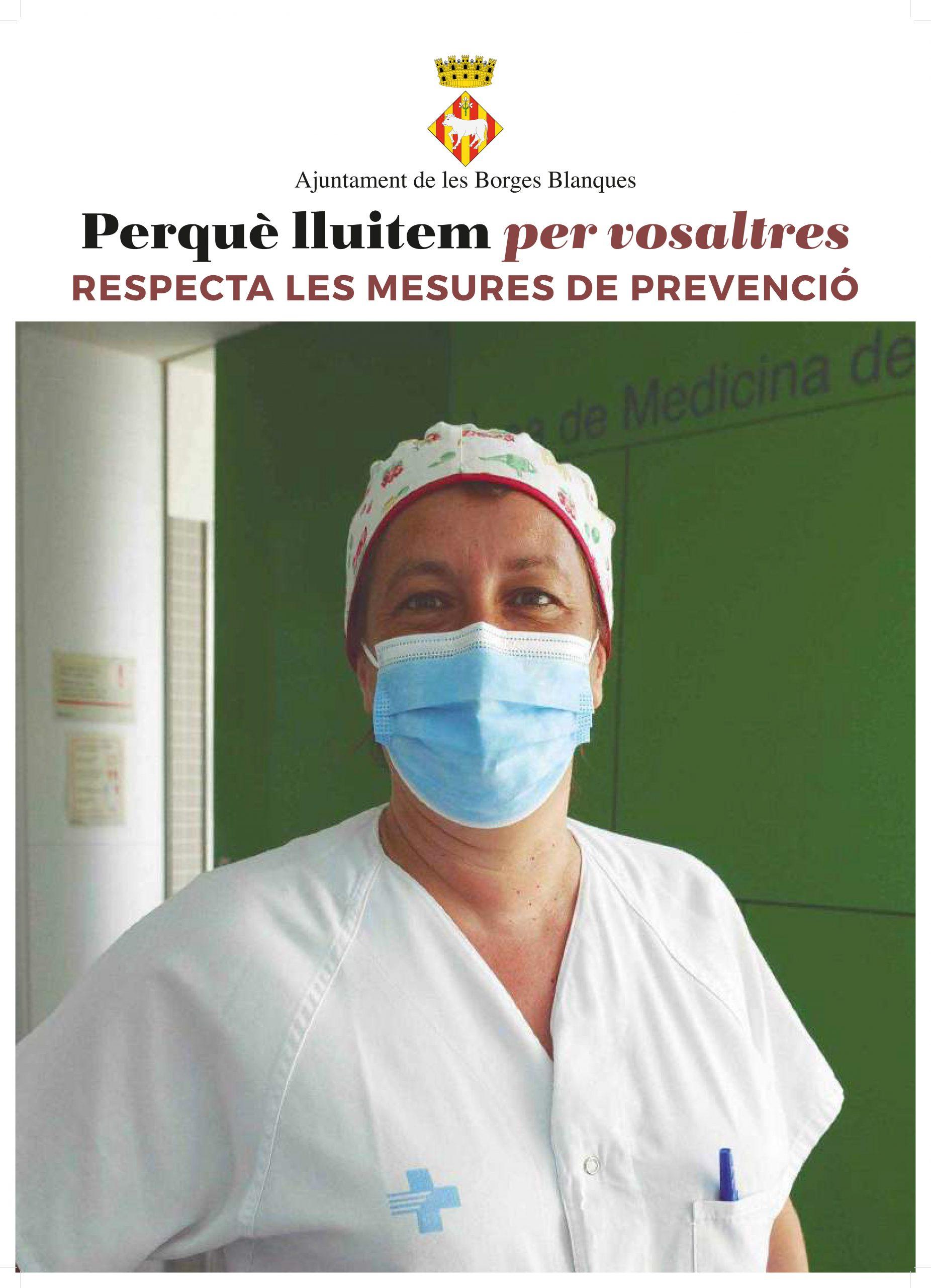 Ajuntament, entitats i ciutadania de les Borges endeguen una campanya de sensibilització per a prevenir la COVID-19