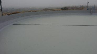 El dipòsit d'aigua potable de les Borges que ha estat reparat i netejat recentment