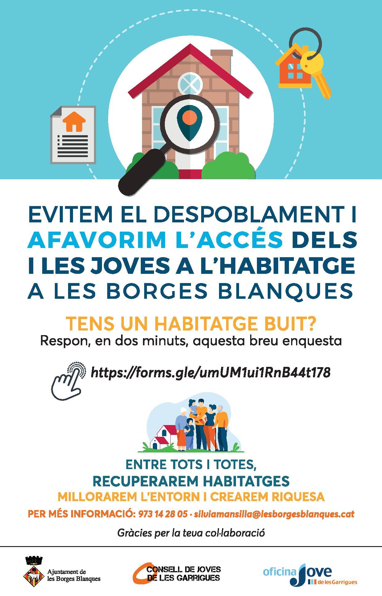 Les Borges elabora un cens d'habitatges buits, per a facilitar-hi l'accés a les persones joves