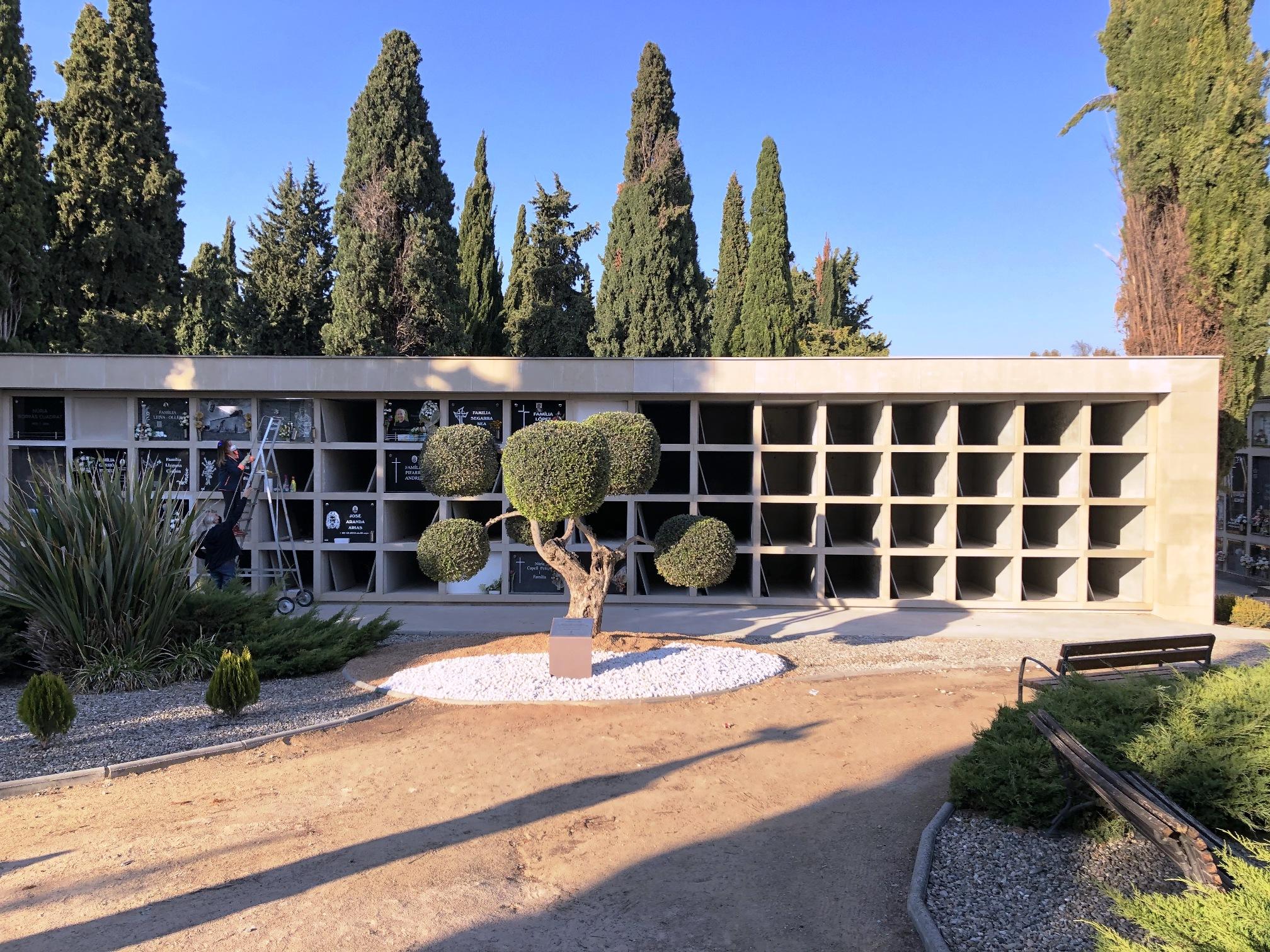 Les Borges acaba la construcció de 64 nous nínxols al cementiri i hi habilita un espai per a la memòria dels no nats