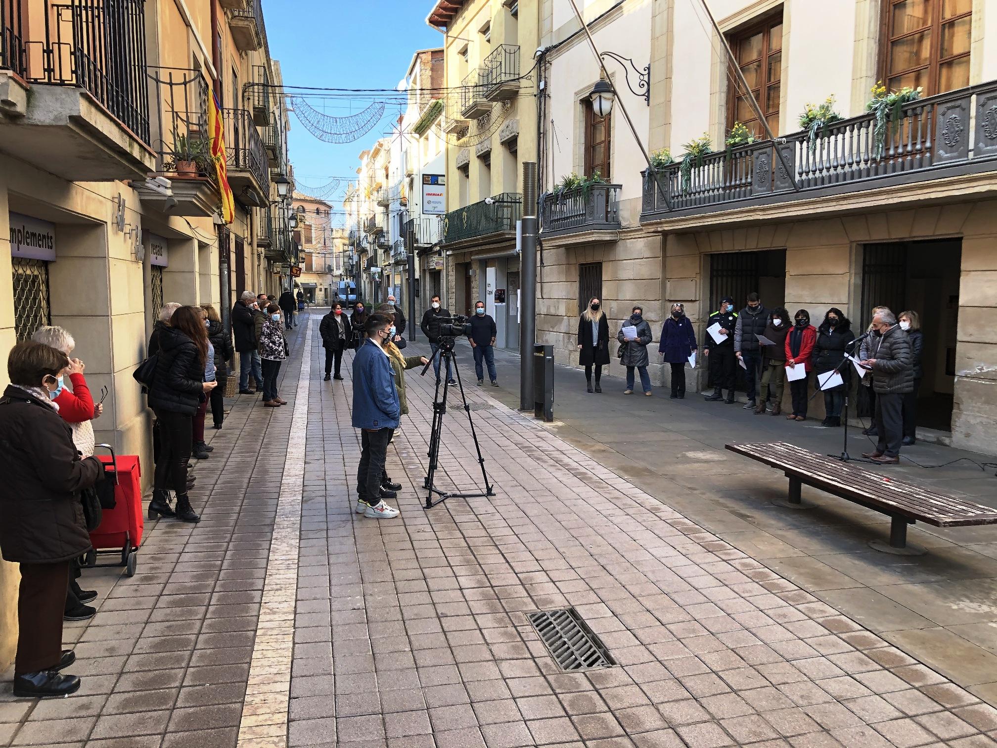 Les Borges rebutja les violències masclistes amb accions al carrer, telemàtiques, formacions i un monòleg aquest 25N