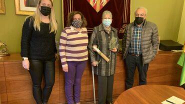 Recepció individual a l'Ajuntament de les Borges per a homenatjar una de les octogenàries 2020