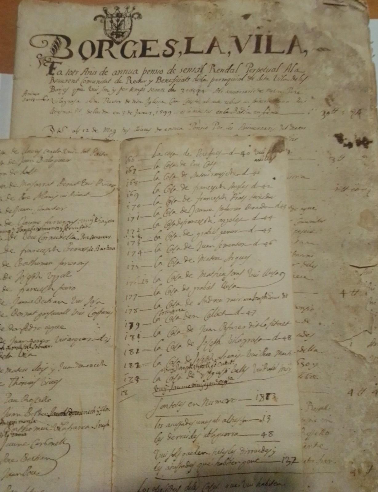 L'Espai Macià de les Borges rep la donació d'un padró d'habitants del segle XVII i de diversos projectes de l'enginyer Eduard Mias