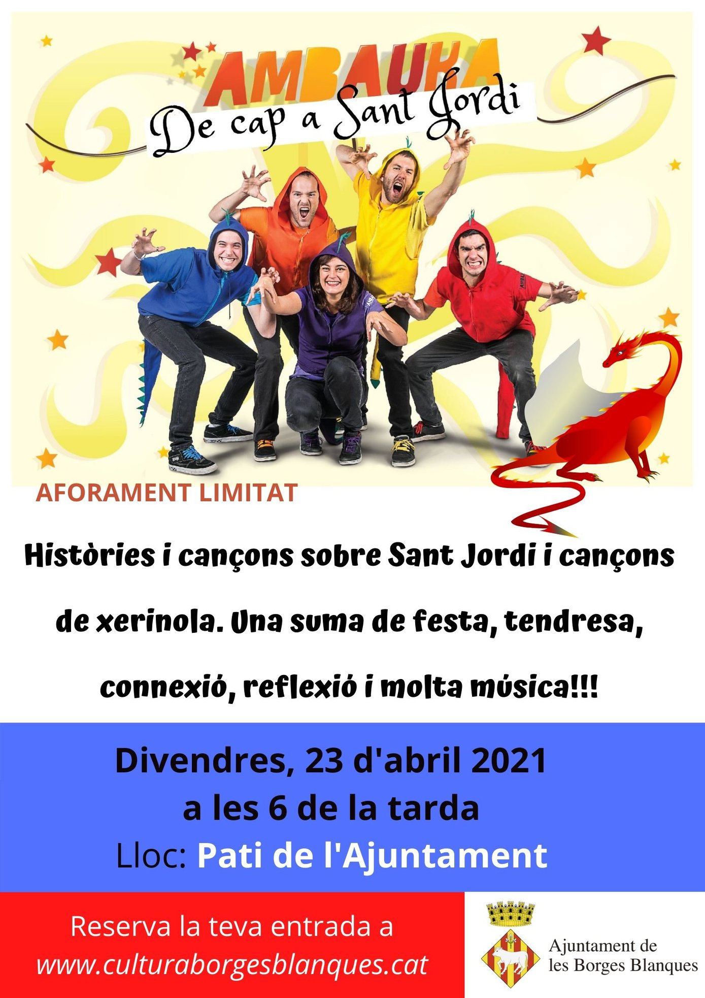 Les Borges prepara un espectacle musical infantil per celebrar aquest Sant Jordi 2021