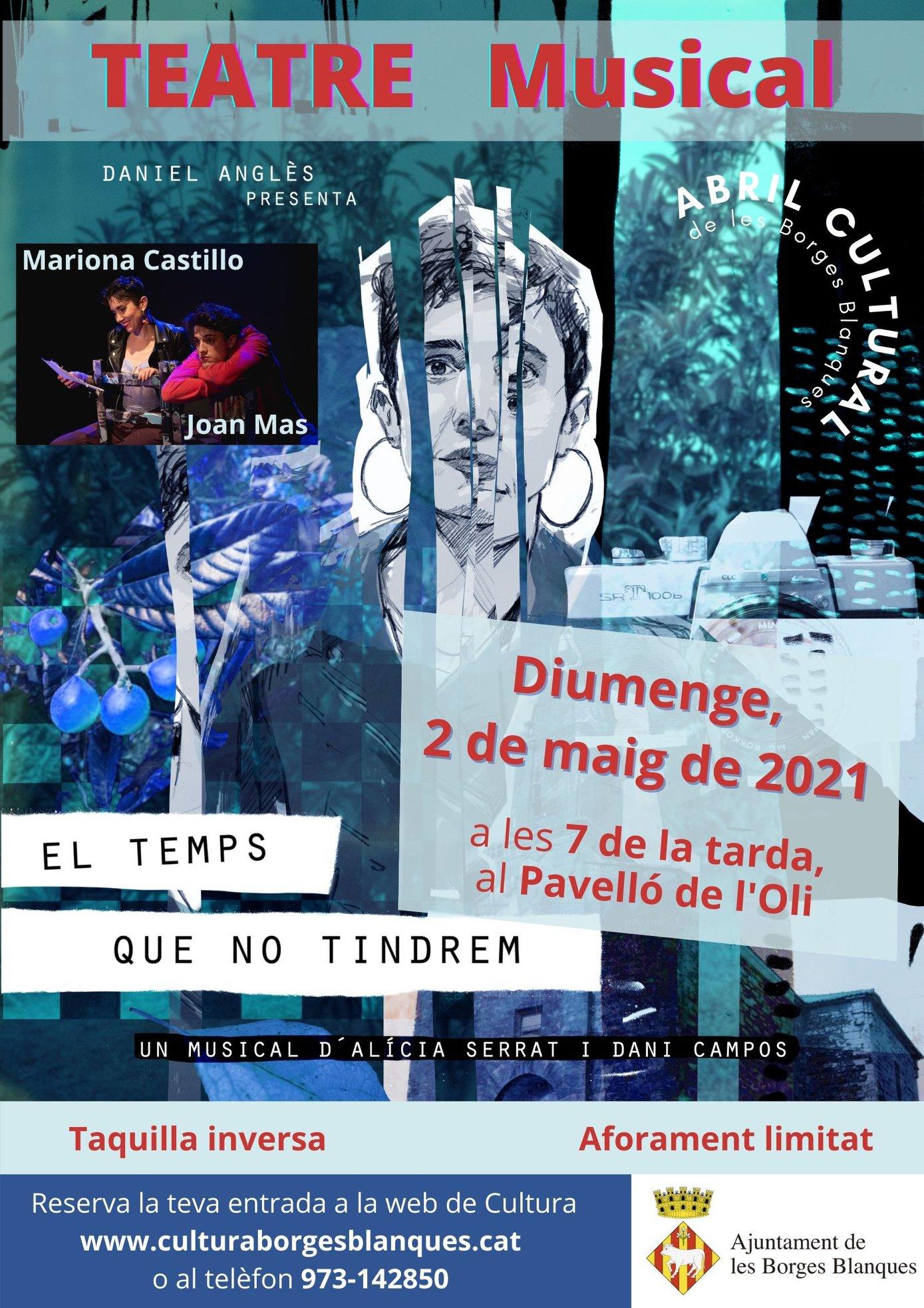 El Pavelló de l'Oli de les Borges acollirà aquest diumenge un espectacle de teatre musical sobre l'amor familiar