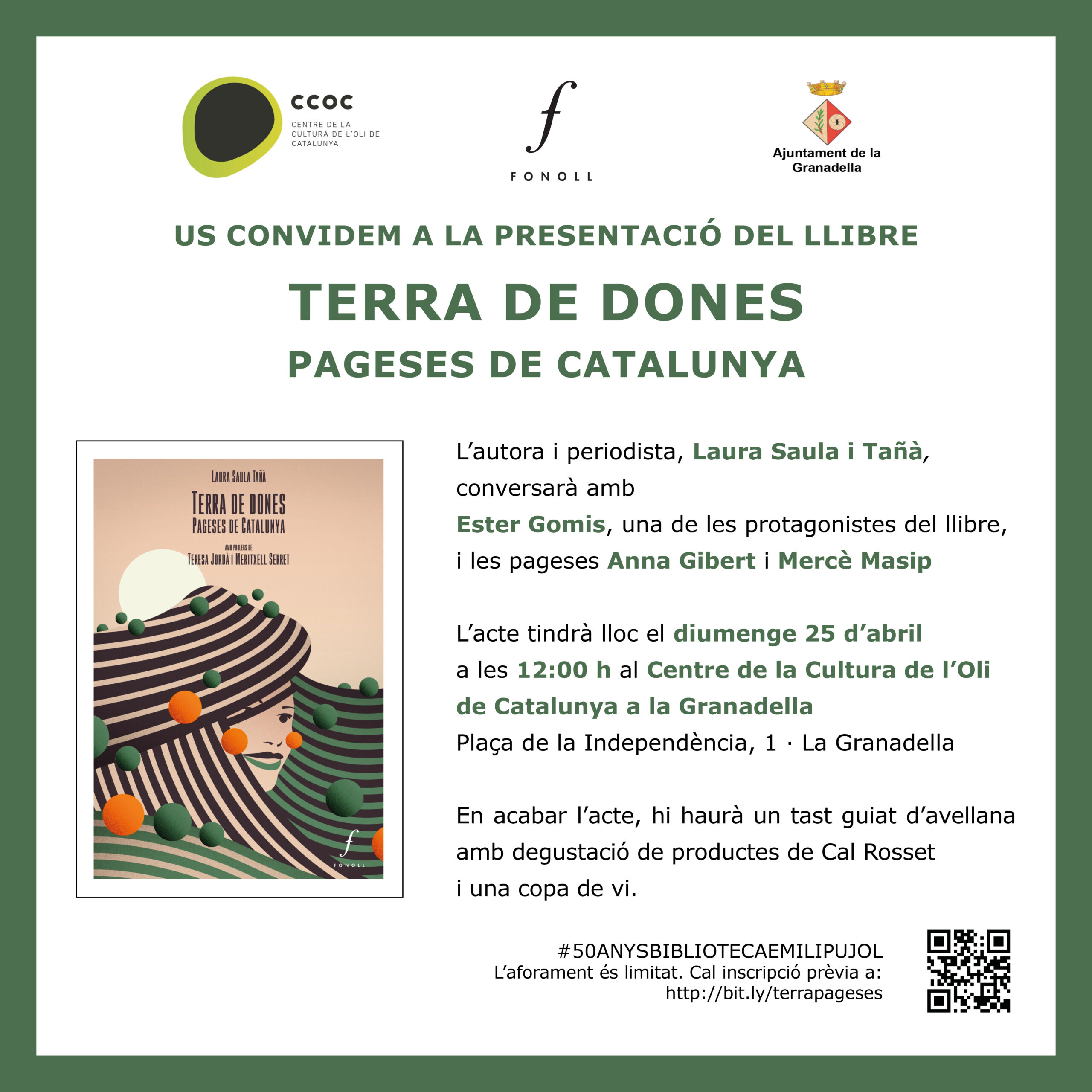"""El CCOC presenta el llibre """"Terra de dones. Pageses de Catalunya"""", dins els actes de Sant Jordi de la Granadella"""